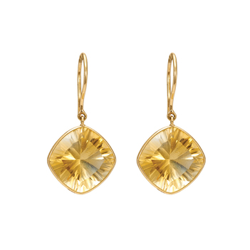 Spartan Citrine Stunner 18K Gold Earrings