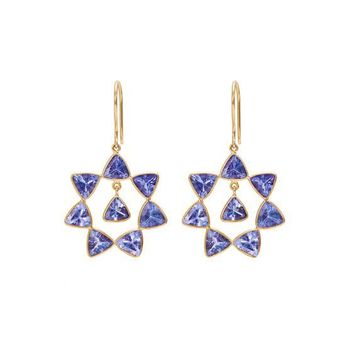 Swanky Tanzanite 18K Gold Dangler Earrings