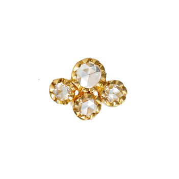 Glittering 22K Gold Rose Cut Diamond Nose Pin