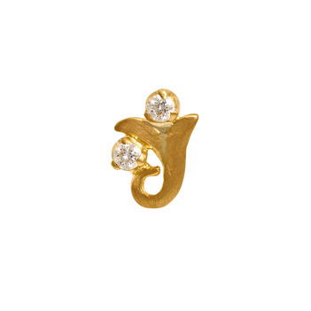 Striking Ganpati Diamond Nose Pin