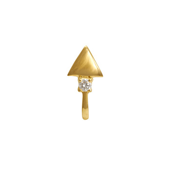 Quirky Diamond Gold Nose Pin