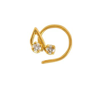 Quirky Diamond Nosepin in 22K Yellow Gold