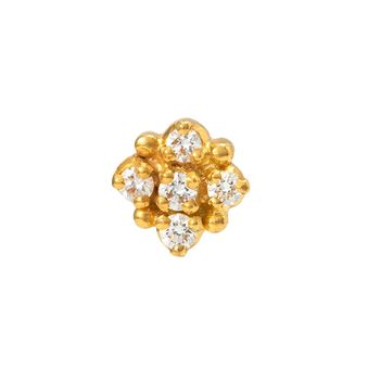 Traditional Diamond Nosepin in 22K Yellow Gold