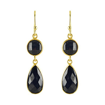 925 Sterling Silver Black Onyx Earrings