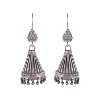 Elegant Oxidised Silver Jhumki