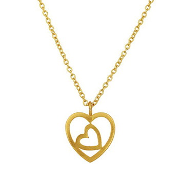 Heart Shaped Sterling Silver Pendant & Chain