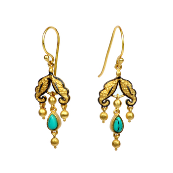 Turquoise and 925 Sterling Silver Chandelier Wonder Dangler Earrings