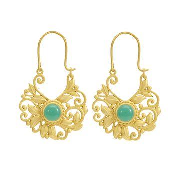 Enigmatic Onyx and 925 Sterling Silver Chaandbaalis Dangler Earrings