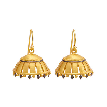 Enamel 925 Sterling Silver Jhumka Earrings