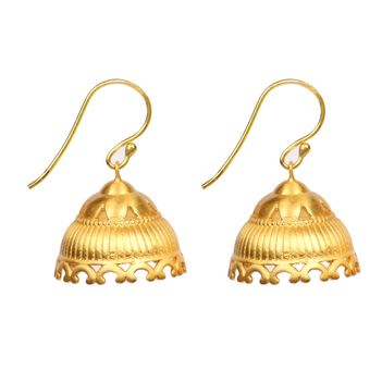 Exquisite 925 Sterling Silver Jhumka Earrings