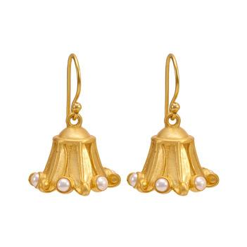 Exotic Pearl 925 Sterling Silver Jhumka Earrings