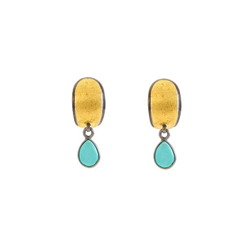 Bold Turquoise 925 Sterling Silver Dangler Earrings