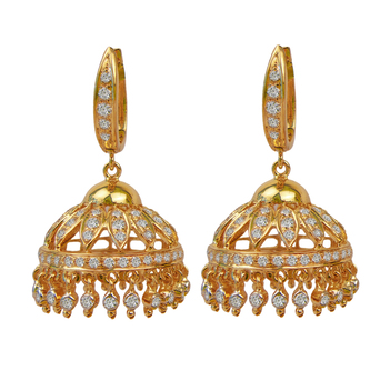 Glamorous and Traditional Diamond Jhumki