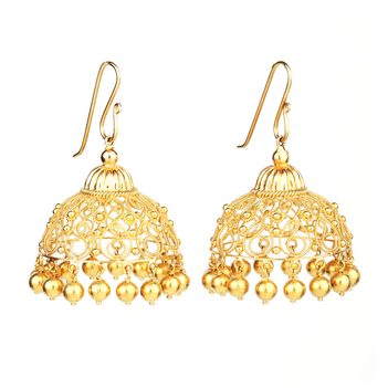 Filigree 18K Gold Jhumki