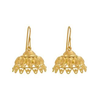Regal 18K Gold Jhumka