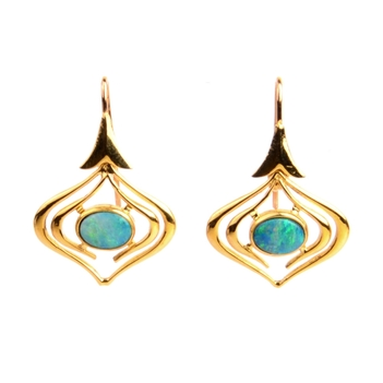 Opal Hook Earrings