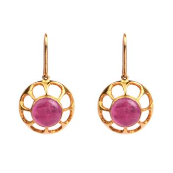 Ruby Hook Earrings