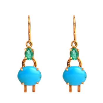 Ocean Hues Hook Earrings