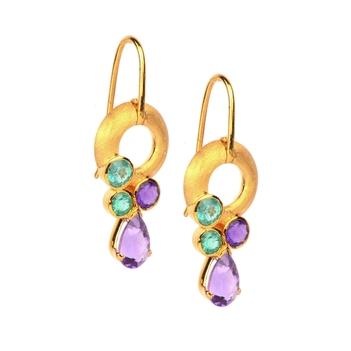 Chic Emerald & Amethyst Drops