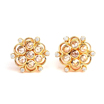 Time-Honoured Diamond Floral 18K Gold Stud Earrings