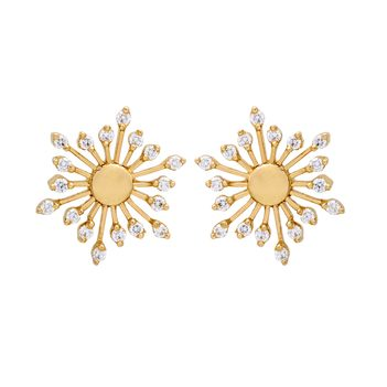 Enchanting Diamond 18K Gold Stud Earrings