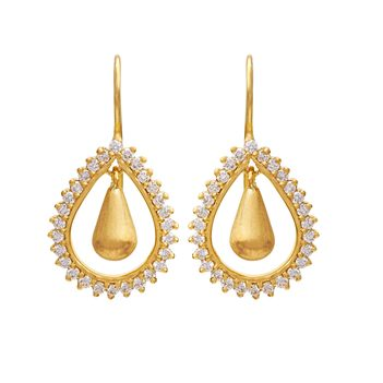 Bewitching Pear Shaped Drops in Gold & Diamonds
