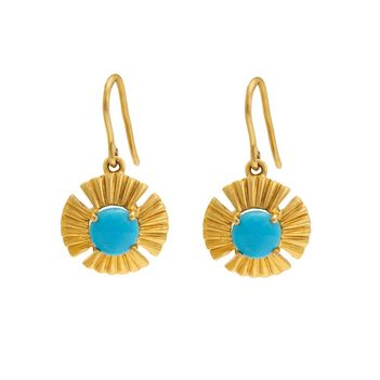 Enticing Turquoise and Gold Drops