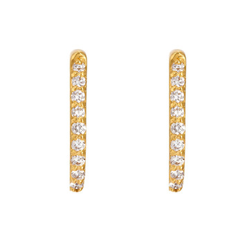 Scintillating Diamond 18K Gold Hoop Earrings