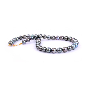 Elegant Black Pearl String Necklace