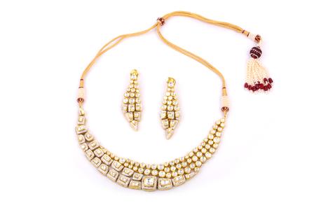 Spectacular Kundan Diamond Necklace Set