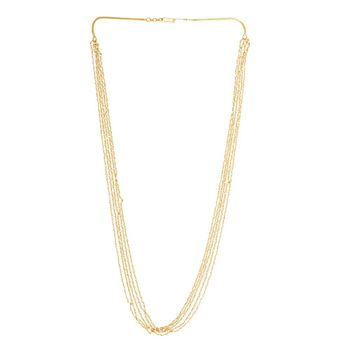 Aristocratic Pearls and 22K Yellow Gold Long Necklace