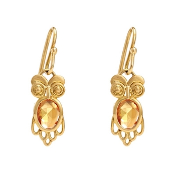 Illuminating Orange Sapphire & 18K Gold Earrings