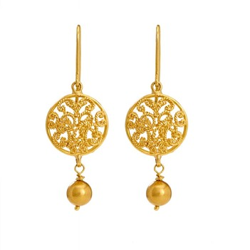 Intricate 18K Yellow Gold (Filigree) Earrings