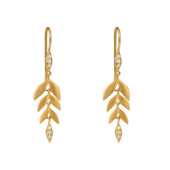 Delicate Gold  & RBC Diamonds Earrings