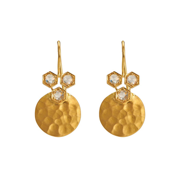 Prodigious Rosecut Diamonds & 18K Yellow Gold  Drop Earrings