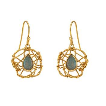 Elegant Labradorite 925 Sterling Silver Dangler Earrings