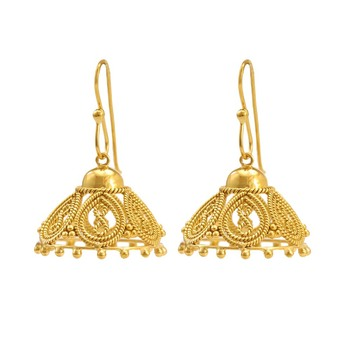 Byzantine 18K Yellow Gold (Filigree) Jhumki