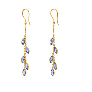 Breezy Tanzanite & 18K Yellow Gold Dangler Earrings