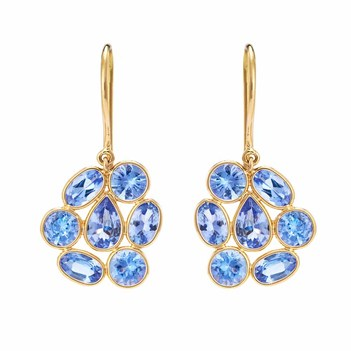 Fetching Tanzanite & 18K Gold Dangler Earrings