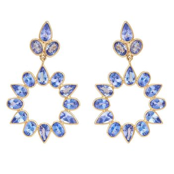 Entrancing Tanzanite 18K Gold Danglers
