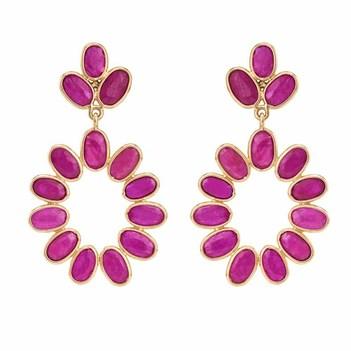 Radiant Rubies & 18K Gold Earrings