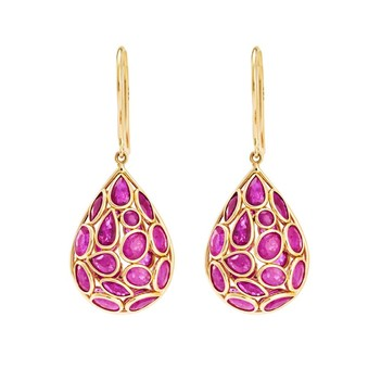 Lucent Rubies & 18K Gold Earrings