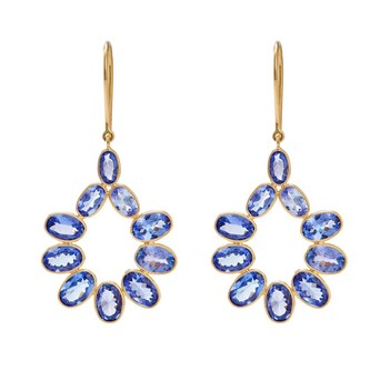Inviting Tanzanite & 18K Gold Dangle Drop Earrings