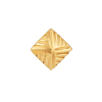 Geometric 22K Yellow Gold Nose Pin