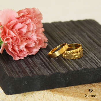 Handsome 18K Yellow Gold Stacking Rings