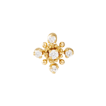 Suave 22K Gold and Diamond Nose pin