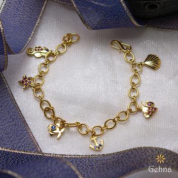 Aquatic Beauty 18K Gold Charm Bracelet