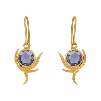 Engaging Sapphire and Gold Earrings