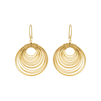 Annulated 925 Sterling Silver Drop Earrings