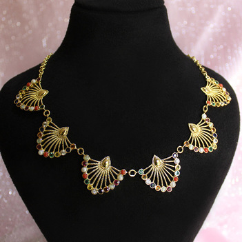 Navratna Necklace 18K Gold
